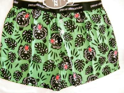 Peter Alexander Mens Tiger Palm Boxer Short Sz L NWT