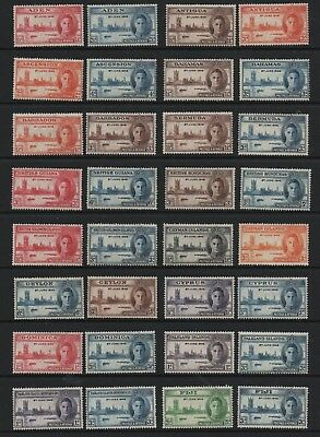 1946 Victory Omnibus Crown agents Houses of parliament set 82 MNH mint stamps