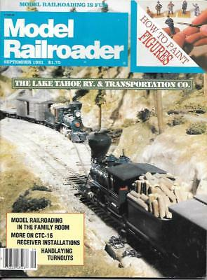 Model Railroader Sept.1981 Handlaying Turnouts Figures Right Of Way Substation