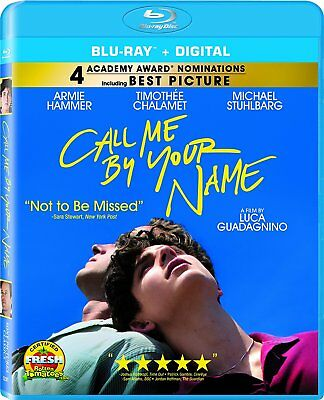 Call Me By Your Name (2018) Brand New Sealed Region A Bluray