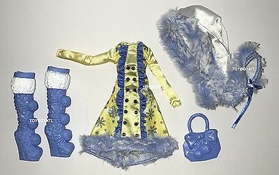 Ever After High Epic Winter Blondie Lockes Doll Outfit Clothes Dress & Shoes NEW