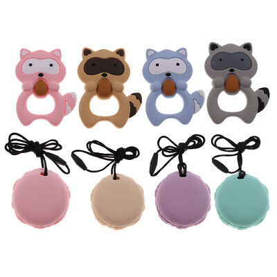 Silicone Animal Shape Teething Pacifier Pendant Toy Soother Teether for Baby Kid