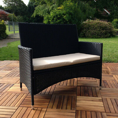 poly rattan gartenbank halden sitzbank bank eur 72 99 picclick de. Black Bedroom Furniture Sets. Home Design Ideas