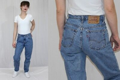 Vintage 80s Levis 550 High Waist Relaxed Tapered Leg Retro MOM Jeans 7M 28x30