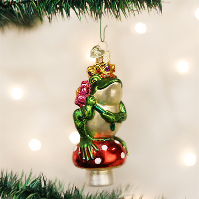 Frog Prince Handmade Blown Glass Tree Ornament by Old World Christmas New w Tag