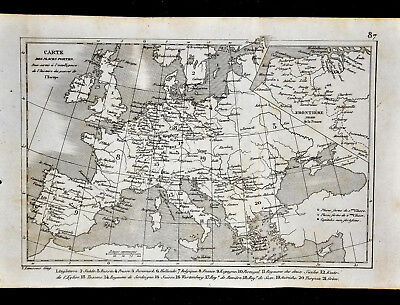 1835 Levasseur Map - Europe - France Italy Spain Austria Germany Sweden Britain