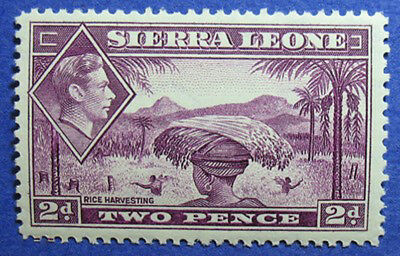 1938 SIERRA LEONE 2d SCOTT# 176 SG# 191 UNUSED CS06106