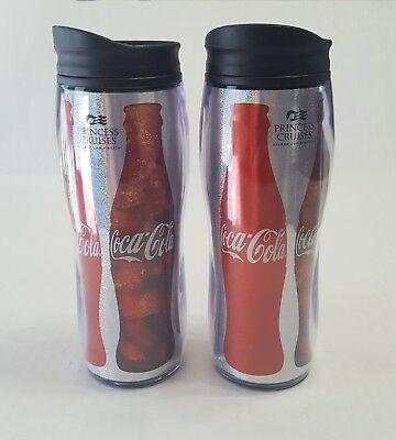 Coca Cola Princess Cruises Insulated Travel Mug Coke Cup Set of 2