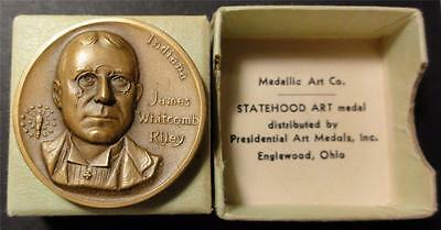 Medallic Art Co. Statehood Medal INDIANA JAMES WITCOMB RILEY Bronze 32mm ME5163
