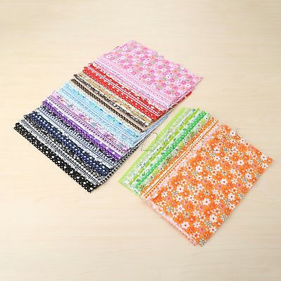 7Pcs Mixed Color Floral Patchwork Quilting Cotton Fabric Sewing Clothes