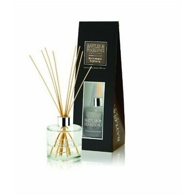 Baylis & Harding Black Pepper & Ginseng Large Fragranced Reed Diffuser
