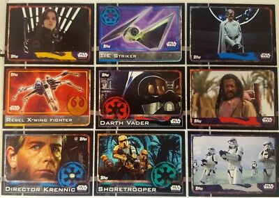 Star Wars ROGUE ONE  Trading Card MASTER Set  1 - 212  topps  2016  UK Australia