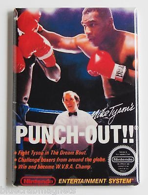 Mike Tyson Punch Out FRIDGE MAGNET (2.5 x 3.5 inches) video game box nes boxing