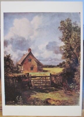 Art Postcard JOHN CONSTABLE Painting THE COTTAGE IN A CORNFIELD Landscape UK