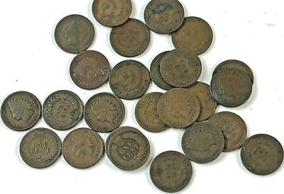 ½ Roll Indian Head Pennies Cents 25 Coins  1890-1907