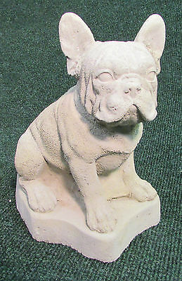 Concrete French Bulldog Statue, Or Use As A Memorial,,,grave Marker