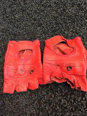 huge selection of 479e6 6c951 WWF The Heartbreak Kid Shawn Michaels Red Leather Gloves WWE HBK Size Large