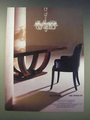 1989 Karl Springer Furniture Ad - Past as future