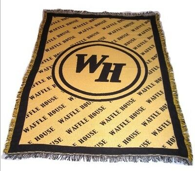Waffle House Fringed Throw approx. 50 x 68 inches fringe adds another 1 1/2 inch