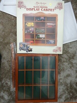 Berkertex Glass Fronted Display Cabinet For Model Cars Ie Lledo Days Gone