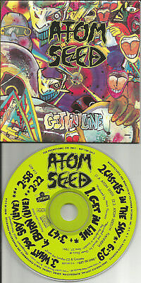 ATOM SEED Get in Live w/ 2 LIVE TRX PROMO  CD single BRUCE DICKISON Iron Maiden
