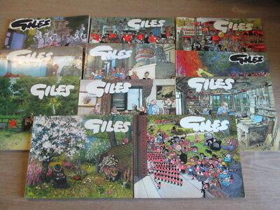 Set of 11 Giles Cartoon Paperback Books Numbers 30-40 (1976-1986) Giles 1976 - 1