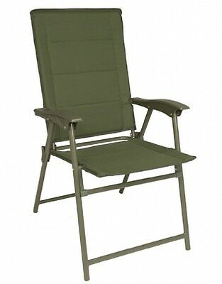ARMY KLAPPSTUHL MIT LEHNE Military chair Outdoor Camping Stuhl OLIV