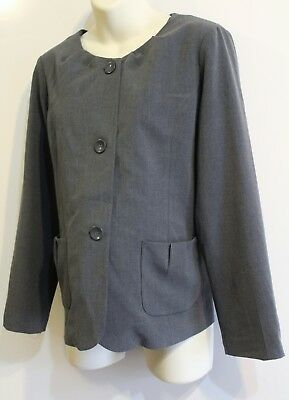 Tomorrow's Mother Maternity Suit Jacket Blazer Size M Gray Career