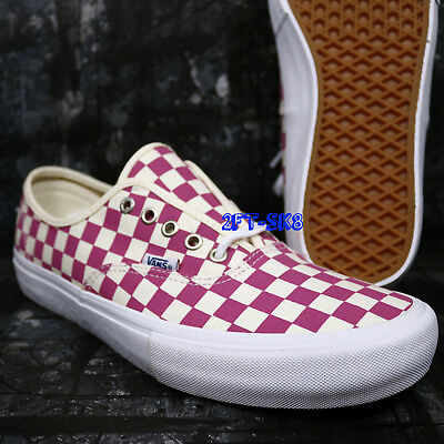 5fbf79c2832f95 VANS AUTHENTIC PRO Checkerboard Fuchsia Pink Men s Skate Shoes  s83159.208