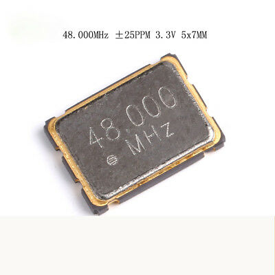 5pcs 7050 SMD 4Pin Active Crystal 48M 48.000MHZ ±25ppm 3.3V 5x7MM 5070 Resonator