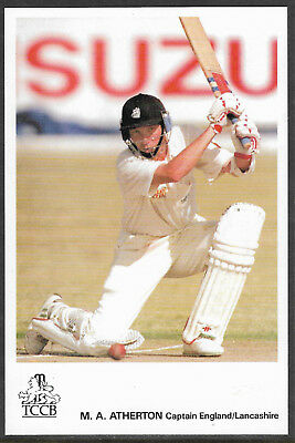 Mike Atherton (Lancashire & England) Tccb Official Cricket Postcard