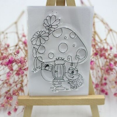 Mushroom House & Ladybug Scrapbooking Transparent Stamps Silicone Rubber Clear