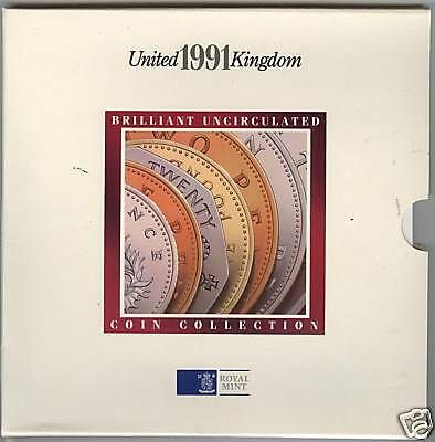 1991 Royal Mint Brilliant Uncirculated Coin Collection