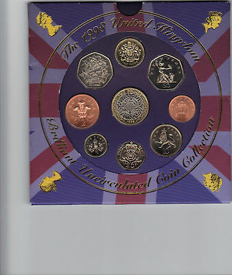 1998 Brilliant Uncirculated Coin Collection In Royal Mint Pack