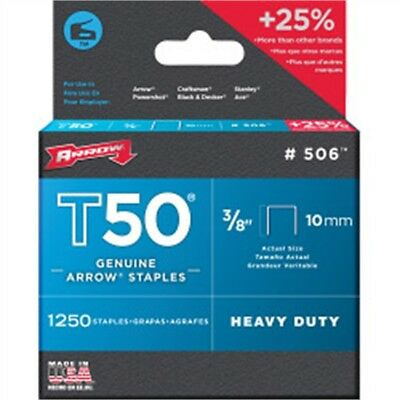 """3/8"""" Box Of 1250 T50 Staples - Arrow 10mm 38in"""