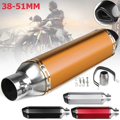 Universal 38~51mm Motorcycle Exhaust Muffler Pipe with Silencer Stainless Steel