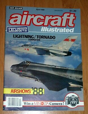 Aircraft Illustrated Magazine 1988 April Phantom,Wardair,Swiss Air Force