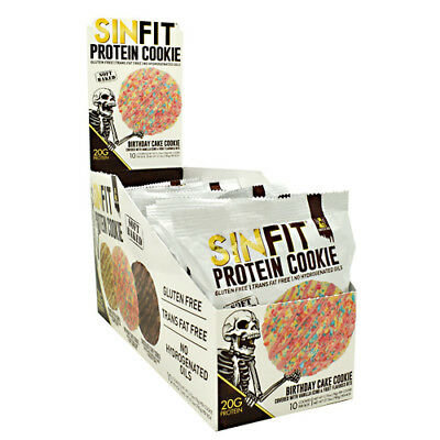 Sinister Labs SINFIT High Protein COOKIE 20g - 10 COOKIES BIRTHDAY CAKE