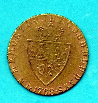 "King George III 1768 Gambling Token ""In memory of the Good Old Days"" Spade Back"