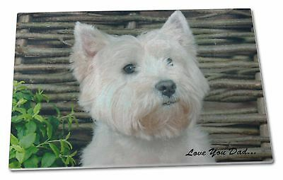 Chop AD-W1yGCBL Westie Dog /'Yours Forever/' Extra Large Toughened Glass Cutting