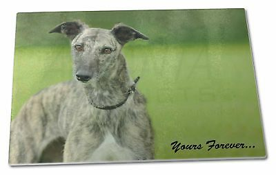 Greyhound Dog 'Yours Forever' Extra Large Toughened Glass Cutting, , AD-LU7yGCBL