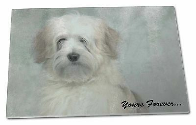 Tibetan Terrier 'Yours Forever' Extra Large Toughened Glass Cutting, AD-TT1yGCBL