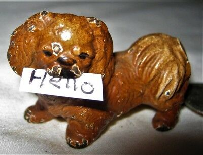 Antique Hubley Cast Iron Toy Usa Pekingese Dog Pup Statue Sculpture Paperweight