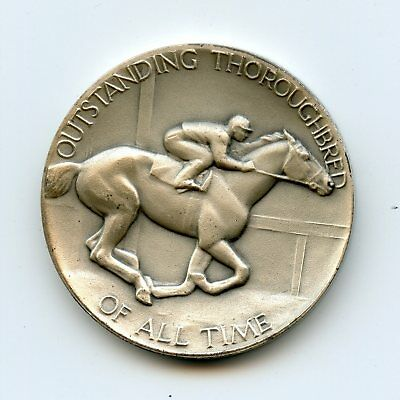 Man O'War Outstanding Thoroughbred of All Time .999 Silver Commem Coin/Medal