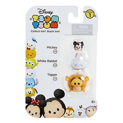 DISNEY 3pc TSUM TSUM Collectible Figure MICKEY 101+WHITE RABBIT 138+TIGGER 151