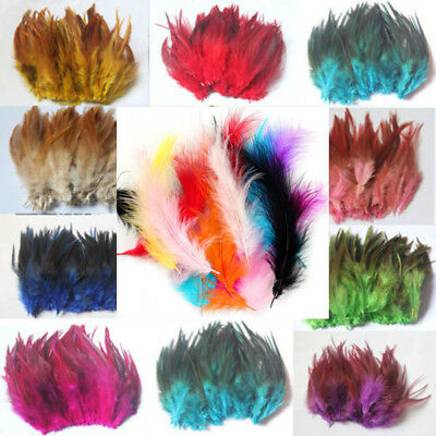 100pc Rooster Tail Feathers For Wedding Millinery Card Craft Wedding Many Color