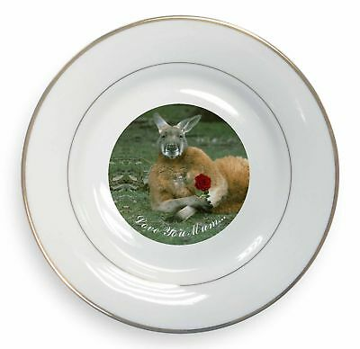 Kangaroo+Rose 'Love You Mum' Gold Rim Plate in Gift Box Christmas Pr, AK-1RlymPL