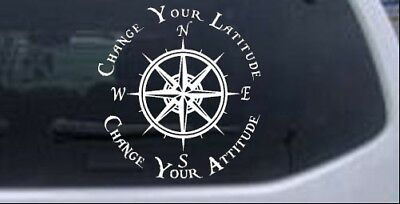 Change Your Latitude Change Your Attitude Compass Car Truck Window Decal Sticker