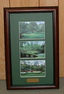 "Framed Augusta National AMEN CORNER collage MASTERS - 11"" x 17""  FREE SHIPPING"