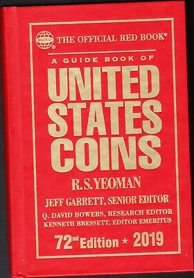 2019  RED BOOK  72nd Edition  HARD COVER  Guidebook of United States Coins